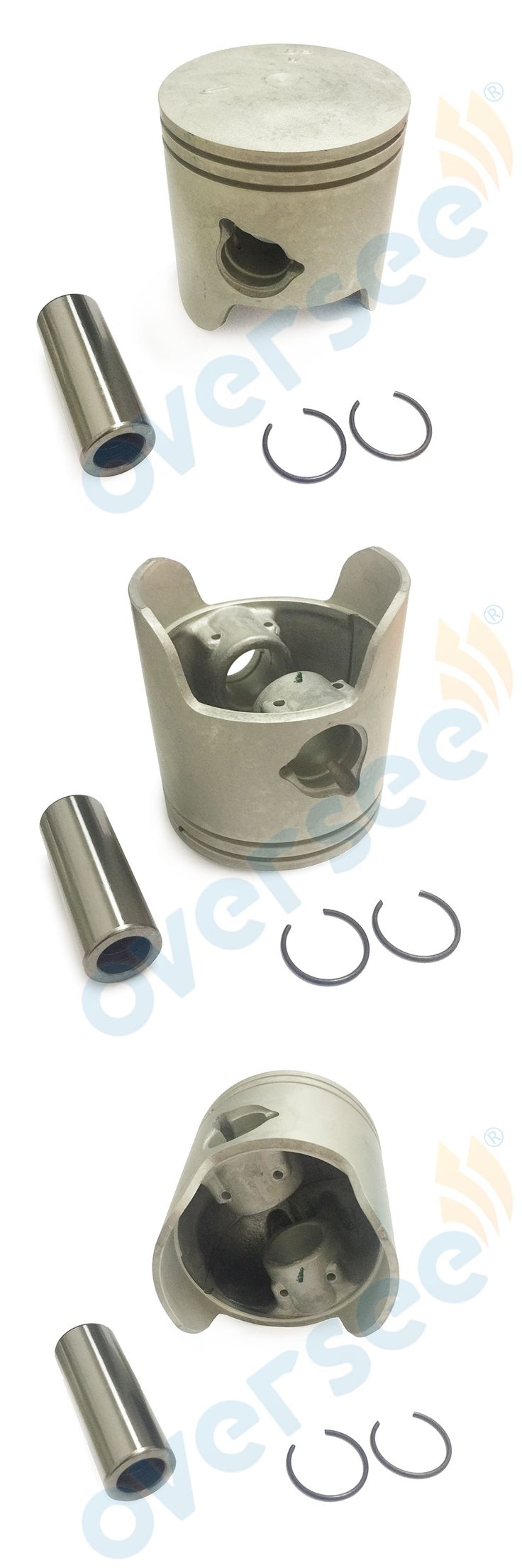 Pro Piston Kit w/Riken Rings Replaces OEM 6H3-11636-01 6H3-11636