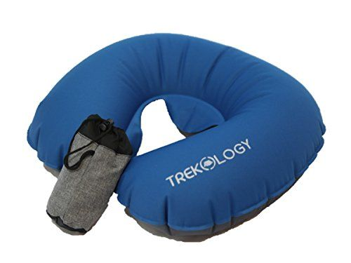 #Trekology #Ultralight #Travel / #Neck #Air #Pillows for #Airplane, #Compact Head and #Neck #Support #Pillow, #Travel #Accessories as a #Headrest, #Neck #Cushion for Best #Sleep while #Travelling [introductory price! get yours now!] THE MOST #COMPACT #TRAVEL #PILLOW ON THE MARKET - folds to the size of less than a soda can (only 4 x 2 inches!), and inflate to a comfortable full #neck #support. This #travel #pillow can be easily carried in your bag or pocket for easy access! C