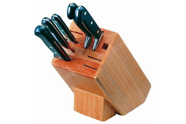 Bloc en bois porte-couteaux professionnel VOGUE - Finarome - Equipement de cuisine professionnelle
