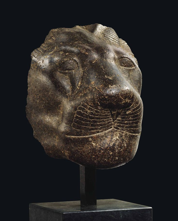 AN EGYPTIAN GRANITE HEAD OF SEKHMET THEBES, NEW KINGDOM, 18TH DYNASTY, REIGN OF AMENHOTEP III, CIRCA 1388-1351 B.C. Estimate GBP 100,000 - GBP 150,000 (USD 128,000 - USD 192,000)