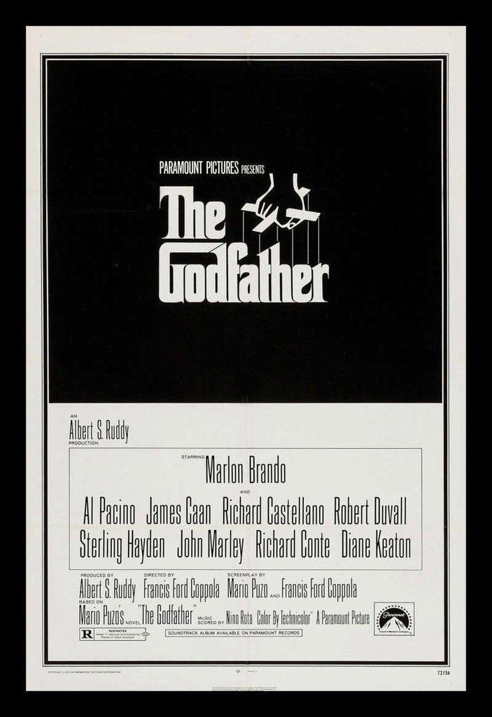 The Godfather Original One Sheet Movie Poster 1972 The Godfather Movie Posters Godfather Movie