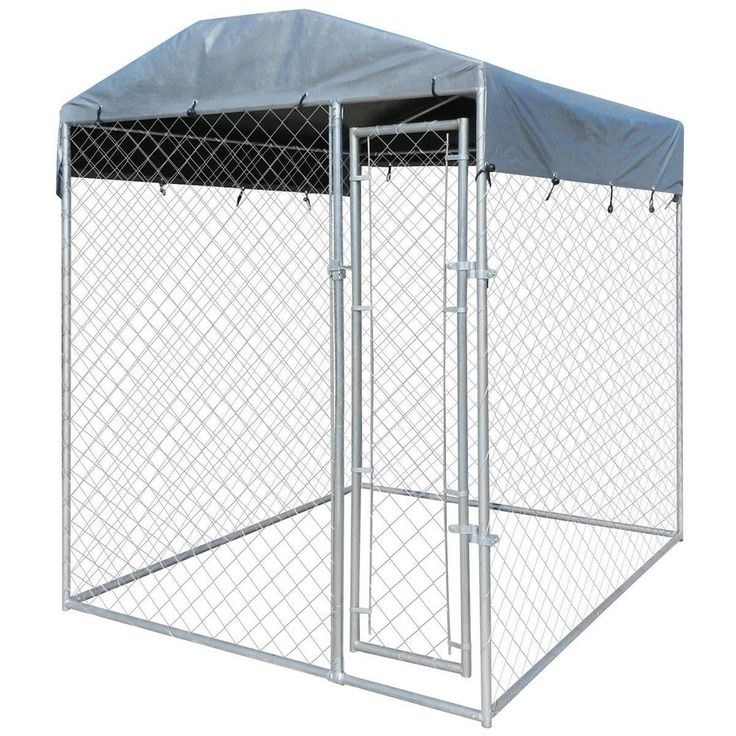 Outdoor Large Dog Cage Heavy Duty Dogs Kennel Canopy Study Cabin Lockable Steel