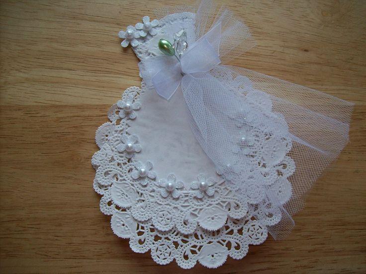 White Paper Doily Wedding Gown Embellishment Scrapbook Supply. $3.99, via Etsy.