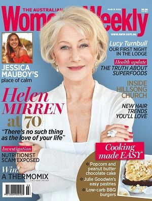 @womensweeklymag #2016  #March #HelenMirren #JessicaMauboy #Health #superfoods #cooking #hairtrends