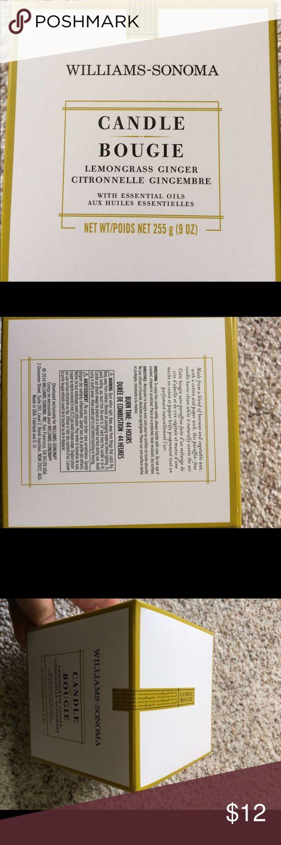 William Sonoma Candle Lemongrass Ginger Brand new, unopened box. William Somoma Other