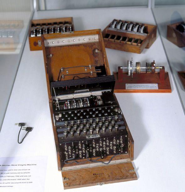 A German Enigma machine