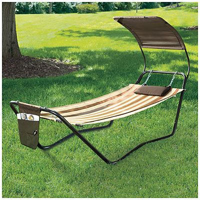 Wilson & Fisher® Freestanding Hammock with Canopy at Big Lots.