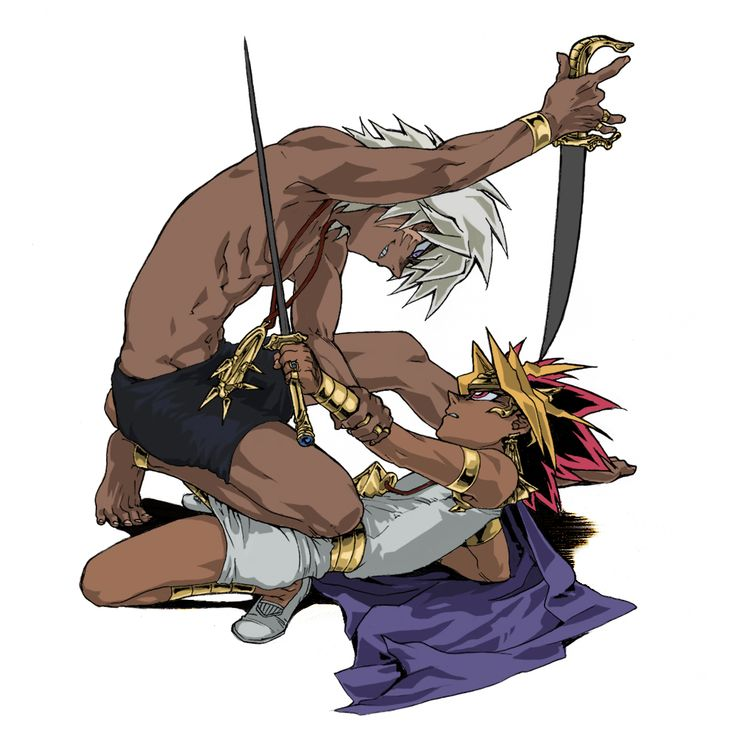 Tags: Fanart, Yu-Gi-Oh!, Yami Yugi, Pharaoh Atem, Thief King Bakura, Pixiv Id 88421, Yu-Gi-Oh! Duel Monsters