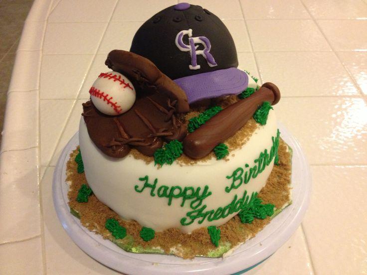 Angels Baseball Cake Design