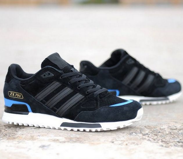 547342e84 adidas Originals ZX 750 – Black – Blue   White