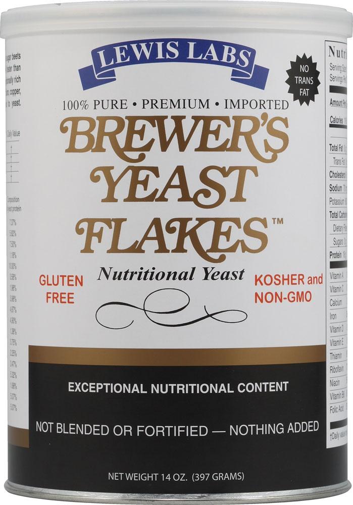 Lewis Labs Brewer's Yeast Flakes | Brewers yeast, Yeast ...
