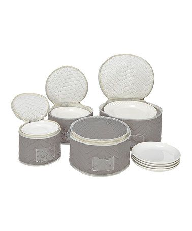 Deluxe Microfiber Four Piece Fine China Storage Set #