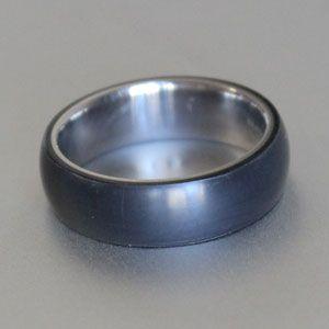 titanium ring with full black teflon sleeve