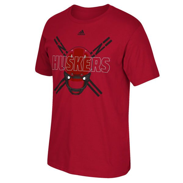 Nebraska Cornhuskers adidas Football Uniform Strategy T-Shirt - Scarlet - $10.99
