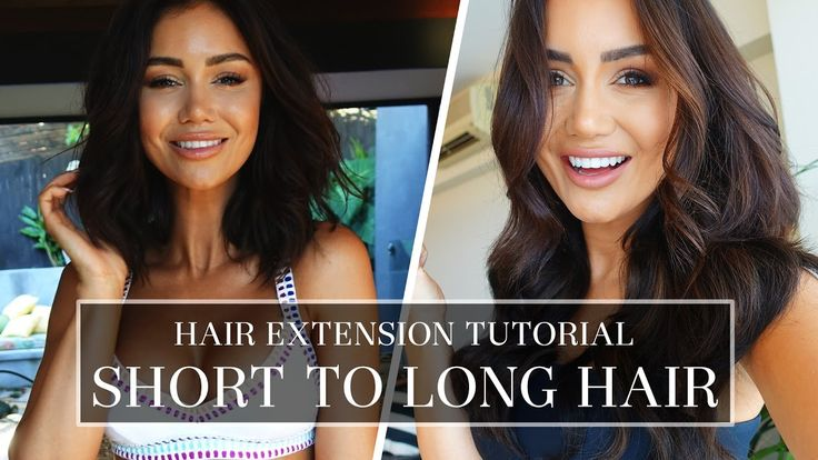 SHORT HAIR TUTORIAL - TIPS AND TRICKS FOR PERFECT CLIP-IN HAIR EXTENSIONS https://www.youtube.com/watch?v=_mUjO_vyqyA #tutorial #hair #extensions #tips