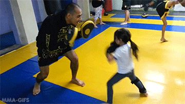 """mma-gifs: """" 5 year old shows off her Muay Thai Combos """""""