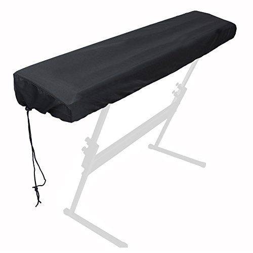 Piano Cover Piano Dust Cover for 88-key keyboard Electronic Piano Keyboard Dust Cover with a Drawstring (Black)  SIZE : 52*11.5*6 inch Pay attention to the size of your electric piano before purchasing the dust cover  FUNCTION : Protect your keyboard from dust,dirt, sunlight with a breathable layer keep the keyboard clean and safe.And enjoy the EXTENDED LIFETIME of your instruments  ADVANTAGE : Piano keyboard dust cover premium material lexibility and appearance for Brings better durab...