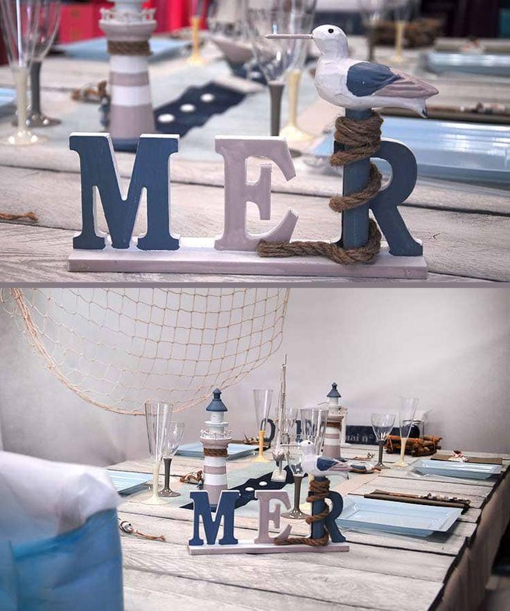 Décoration de mariage thème mer