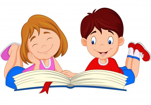 Niños De Dibujos Animados Leyendo El Libro en 2020 | Dibujos niños ...