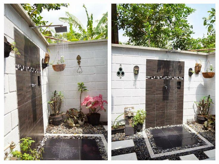 baño exterior que permite el contacto con la naturaleza, diseñado con material reciclado y a bajo costo. http://decoracioncasarural.blogspot.com.co/ Un #baño al aire libre. que priorizara los #elementos rústicos #artesanales,   #ducha exterior. #ducha al aire libre. #ducha exteriores. #baño exterior.  #infografía.