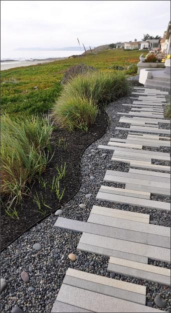 Paving - http://www.landartuk.co.uk. My personal preference for aesthetic is the mixing of linear lines blended with the organic form of nature