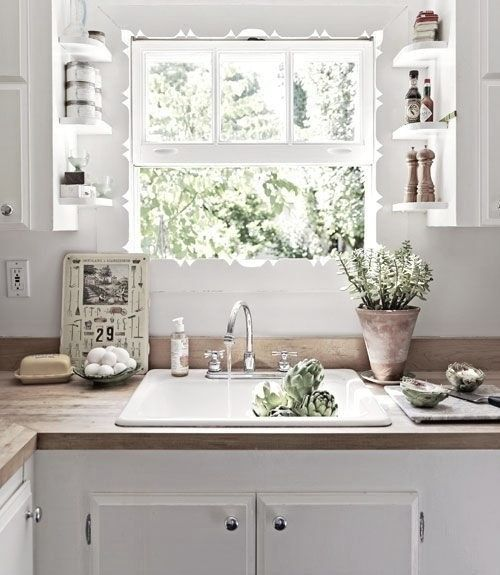 18 idées pour gagner des rangements supplémentaires dans la cuisine (La suite) & Best 25+ Shelves over kitchen sink ideas on Pinterest | Room place ... Pezcame.Com