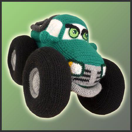 PDF Amigurumi Crochet Pattern Monster Truck by DeliciousCrochet, $6.20