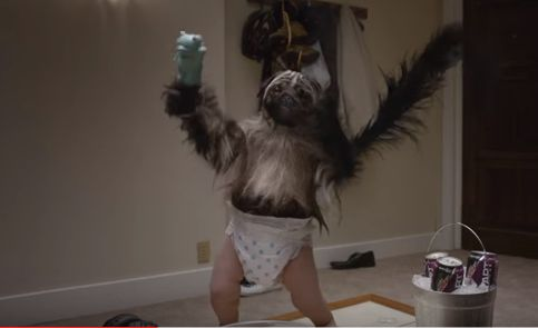 SANTA CLARA, California - Mountain Dew's puppy monkey baby Super Bowl commercial didn't go over so well with someviewers,some said it was right on the edge of being cute or creepy.