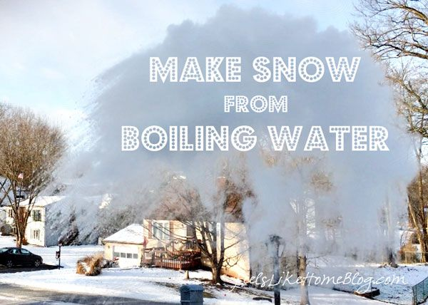 You've seen the boiling water to snow videos. Here's how and why it works. This is a must read before you try it yourself.
