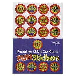 Reinforce the strategies of Protective Behaviours with these vibrant stickers: Early Warning Signs, Networks, Risking on Purpose and Presence.