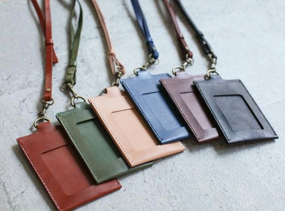 This is a card/ badge holder designed for your to wear for work day to day. It features two pockets (front and the back) for cards. 6 Colors