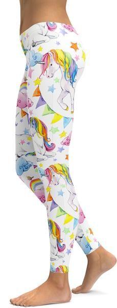 Watercolor Unicorn Leggings