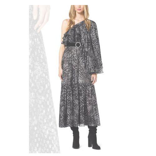 Cheap MK Store & MICHAEL KORS COLLECTION Bohemian Floral Metallic Fil Coupè Dress SLATE