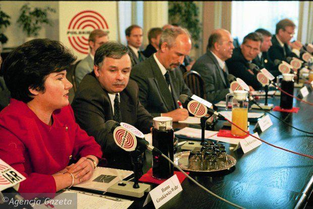 Lech Kaczyński wśród kandydatów na urząd prezydenta w 1995 roku