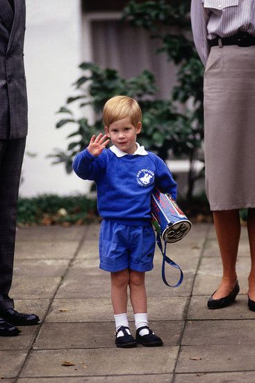 a young Prince Harry