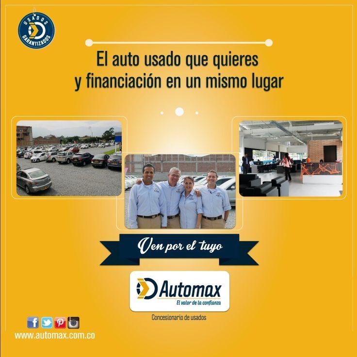 Descubre a Automax, el mejor sitio para comprar autos usados en #Medellín www.automax.com.co