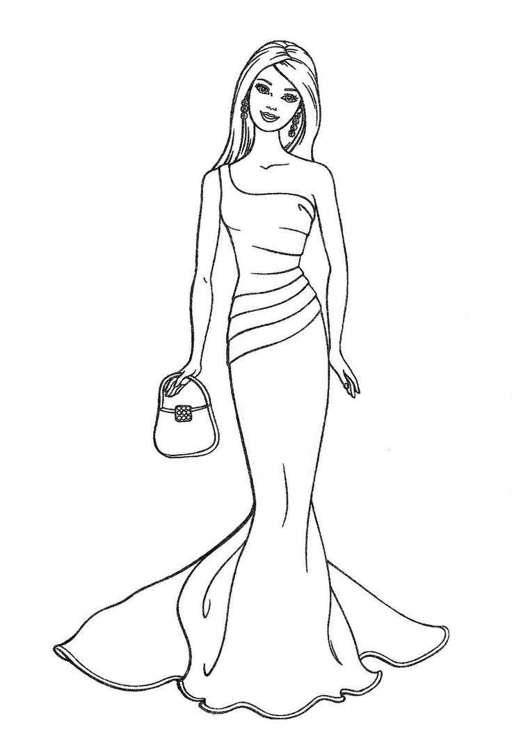 Pin By Oceane Brodier On Carnets A Dessins In 2020 Barbie Coloring Pages Princess Coloring Pages Barbie Drawing