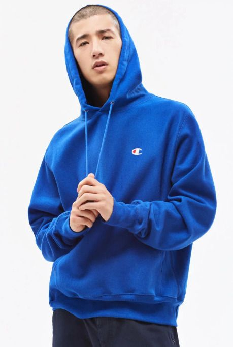 c0a6d4e1b0db New Mens Pacsun Royal Blue Champion Big Chest Long Sleeve Logo Hoodie Size  Large  Champion  Hoodie