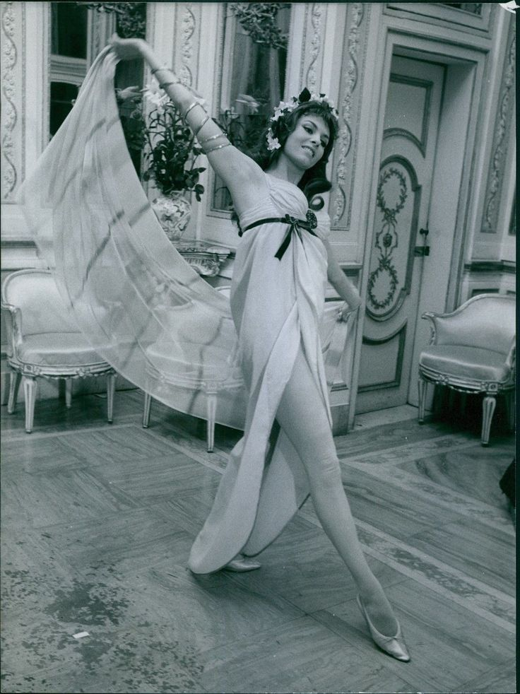 Vintage Photo of French Actress Michèle Mercier Is Dancing | eBay