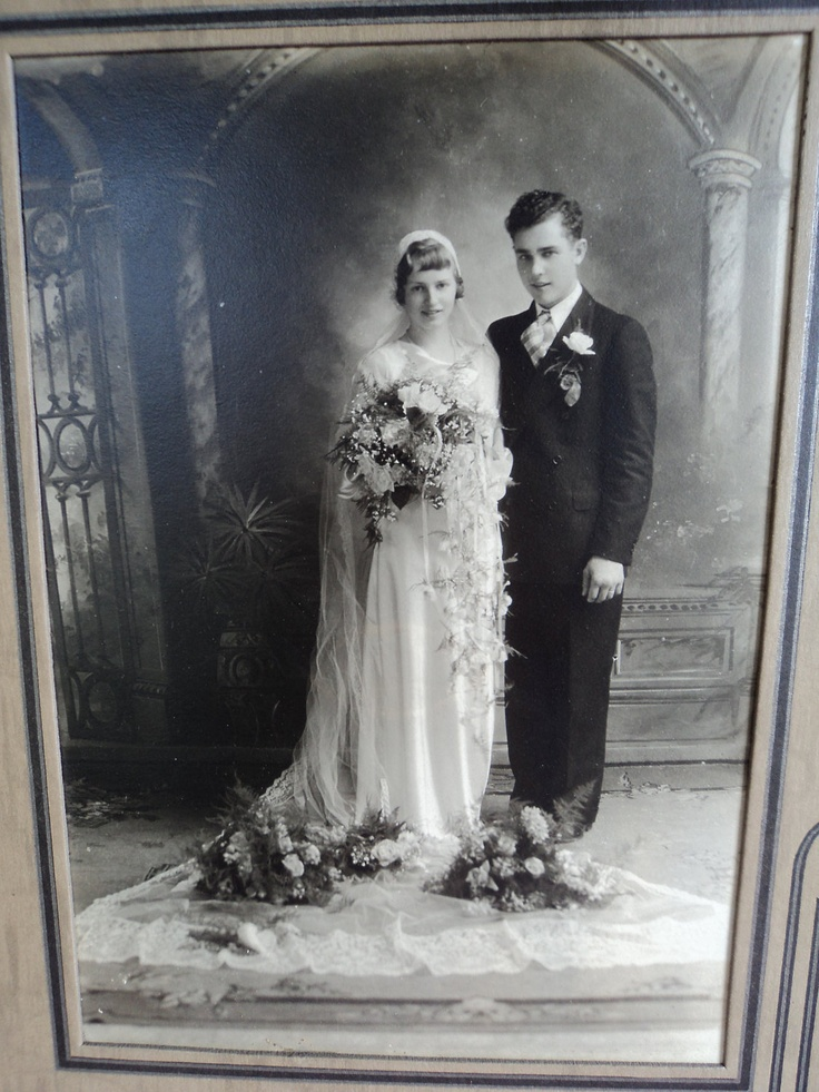 Vintage Wedding Couple Portrait 1920s Or Possibly 30s 5 By