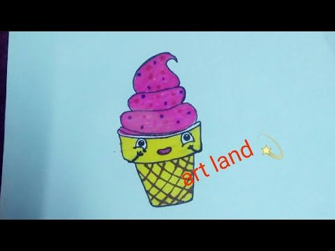 رسم ايس كريم كيوت بسهل خطوة بخطوة How To Cute Ice Cream Step By Step Youtube Make It Yourself Youtube Art
