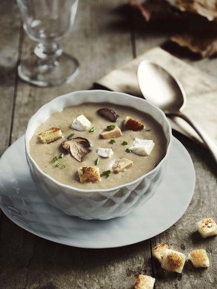 Soupe aux cèpes, Chaource et foie gras