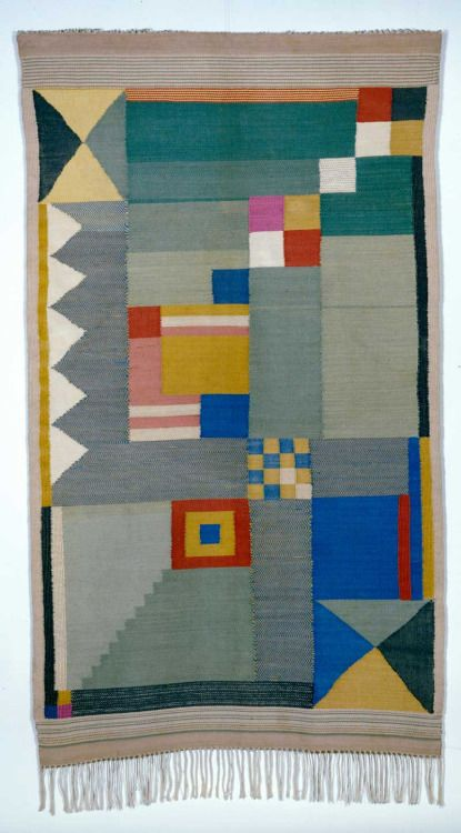 Benita Otte - Women of the Bauhaus -  Bauhaus was a German art school (1919-1933) famous for their new approach to design and fine arts.  The women of Bauhaus made their own textiles.