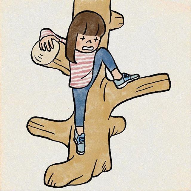 もっと小さい頃苦労してた木登りも背が伸びて容易にできるようになってき