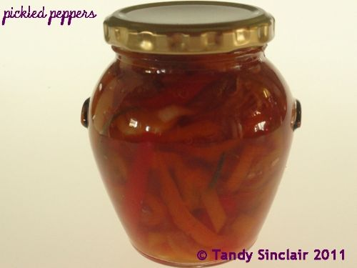 A quick and easy recipe for pickled peppers.