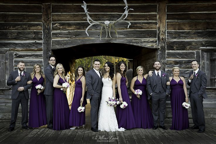 Purple bridal party photo Willow Lane Photography - Barrie Wedding Photographer www.willowlanephotography.ca