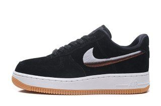 sports shoes a00ae c07d5 Mens Womens Nike Air Force 1  07 LX Black Gum Yellow Summit White Black  898889-010 Running Shoes