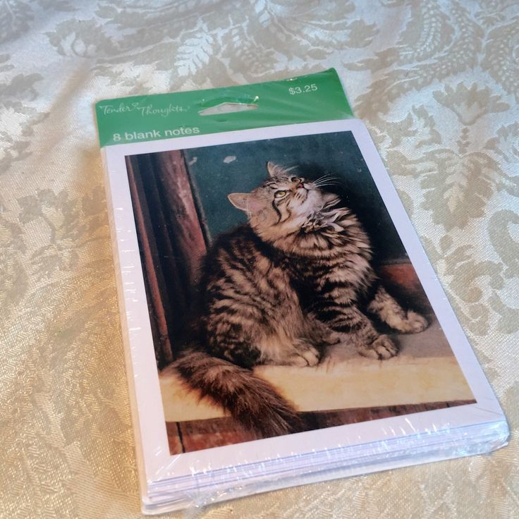 Cat Note Cards / Blank Cards by vintagepoetic on Etsy