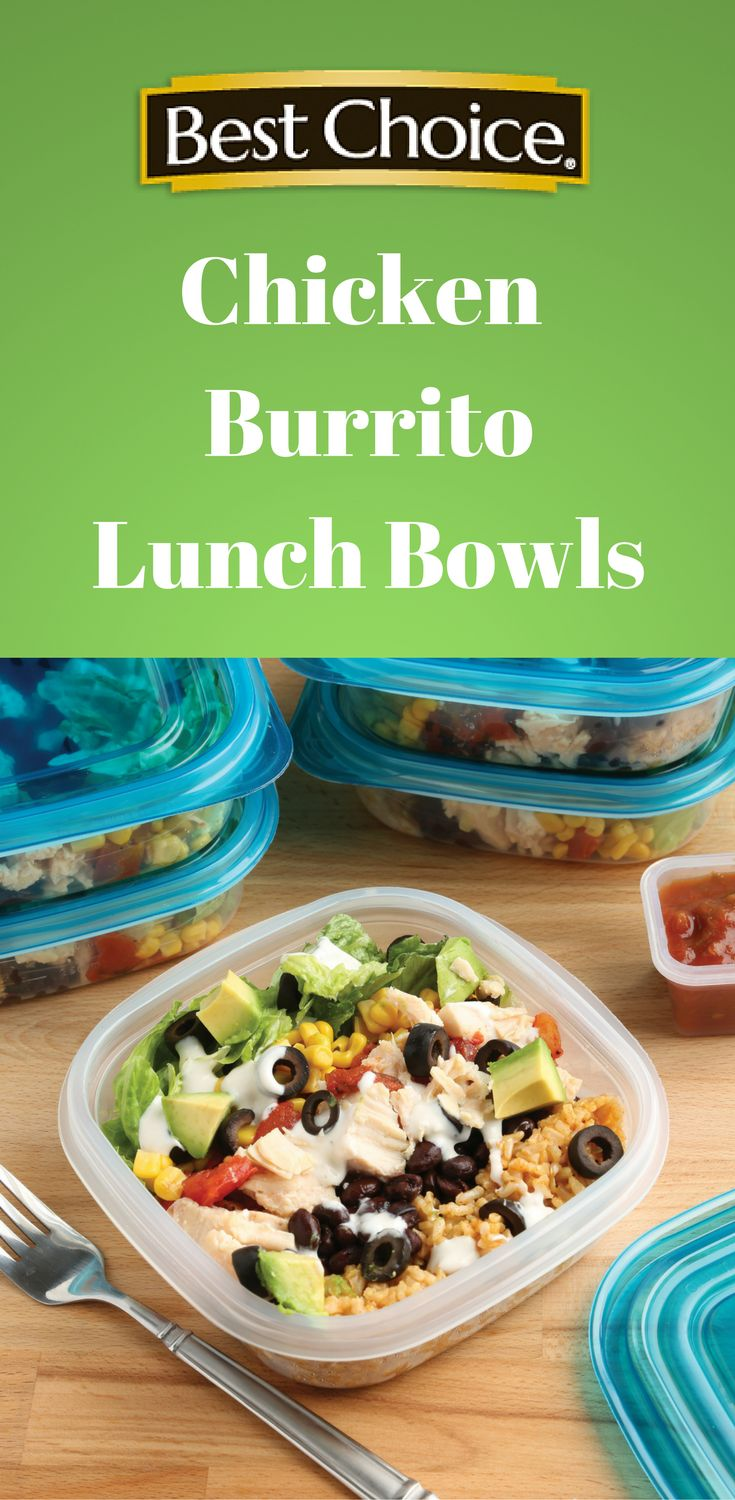 Meal prep made easy! This recipes helps you prep a week's worth of nutritious lunches. These burrito bowls are loaded with veggies, protein, whole grains and healthy fats. | Best Choice Brand