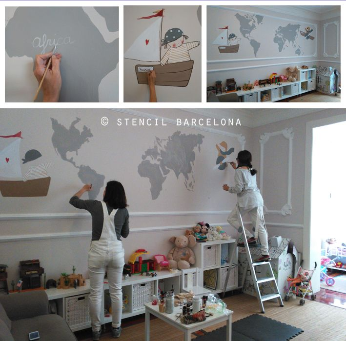 41 best murales infantiles personalizados images on for Habitaciones pintadas
